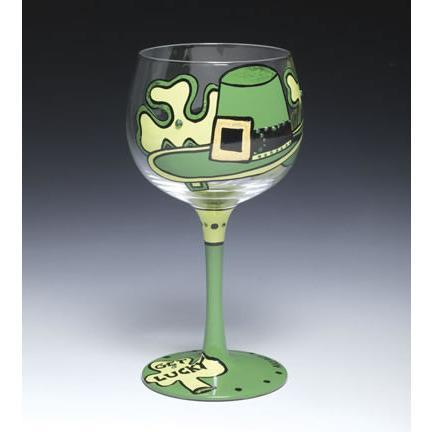 St. Patrick's Day Wine Glass