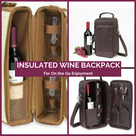Insulated Wine Backpack for 2 Top Notch Gift Shop