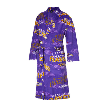 Baltimore Ravens Pinnacle Microfleece Bathrobe in Purple