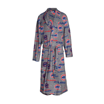 Chicago Cubs Achieve Microfleece Bathrobe in Gray