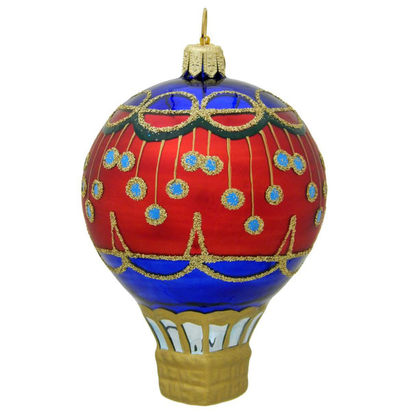 Circus Balloon Red Blown Glass Christmas Ornament-Ornament-Landmark Creations-Top Notch Gift Shop