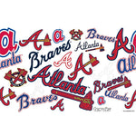 Atlanta Braves All Over Stainless Steel Tumbler With Lid-Tumbler-Tervis-Top Notch Gift Shop