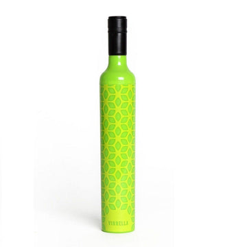 Green Botanical Wine Bottle Umbrella
