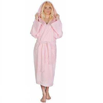 Women's Classic Hooded Terrycloth Bathrobe