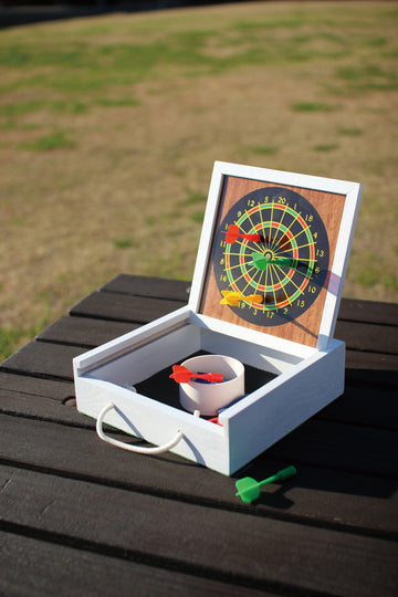 Tabletop Darts and Bean Bag Toss Game