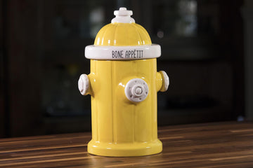 Fire Hydrant Pet Treat Jar - Yelloe
