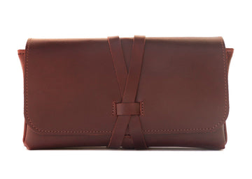 "Cognac Brown Leather ""Bar 2 Go"""