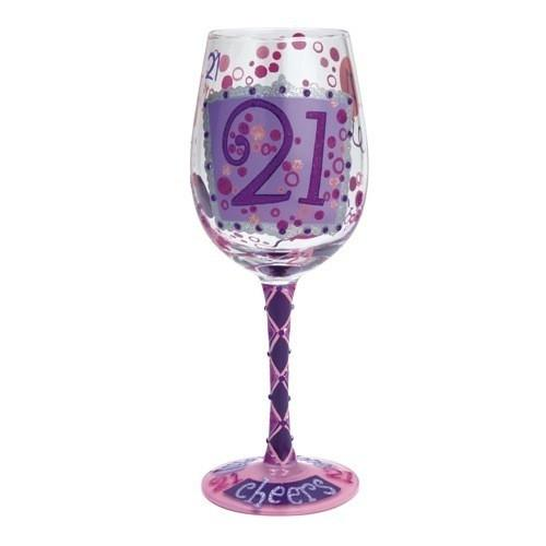 21 Wine Glass by Lolita®-Designs by Lolita® (Enesco)-Top Notch Gift Shop