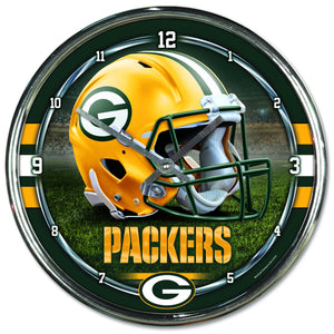 Green Bay Packers Chrome Plated Clock-Clock-Wincraft-Top Notch Gift Shop
