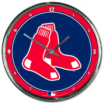 Boston Red Sox Chrome Plated Clock