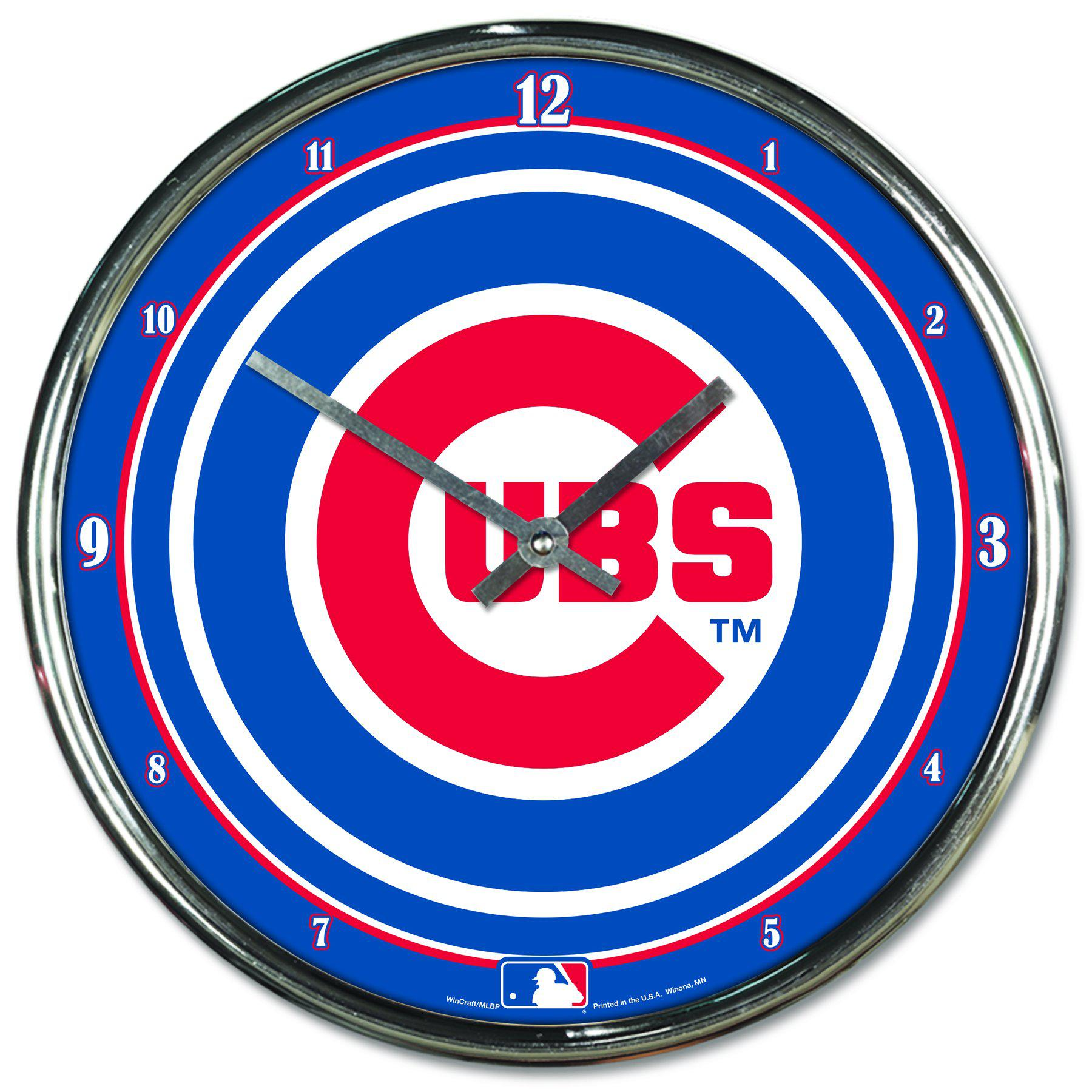 Chicago Cubs Chrome Plated Clock-Clock-Wincraft-Top Notch Gift Shop