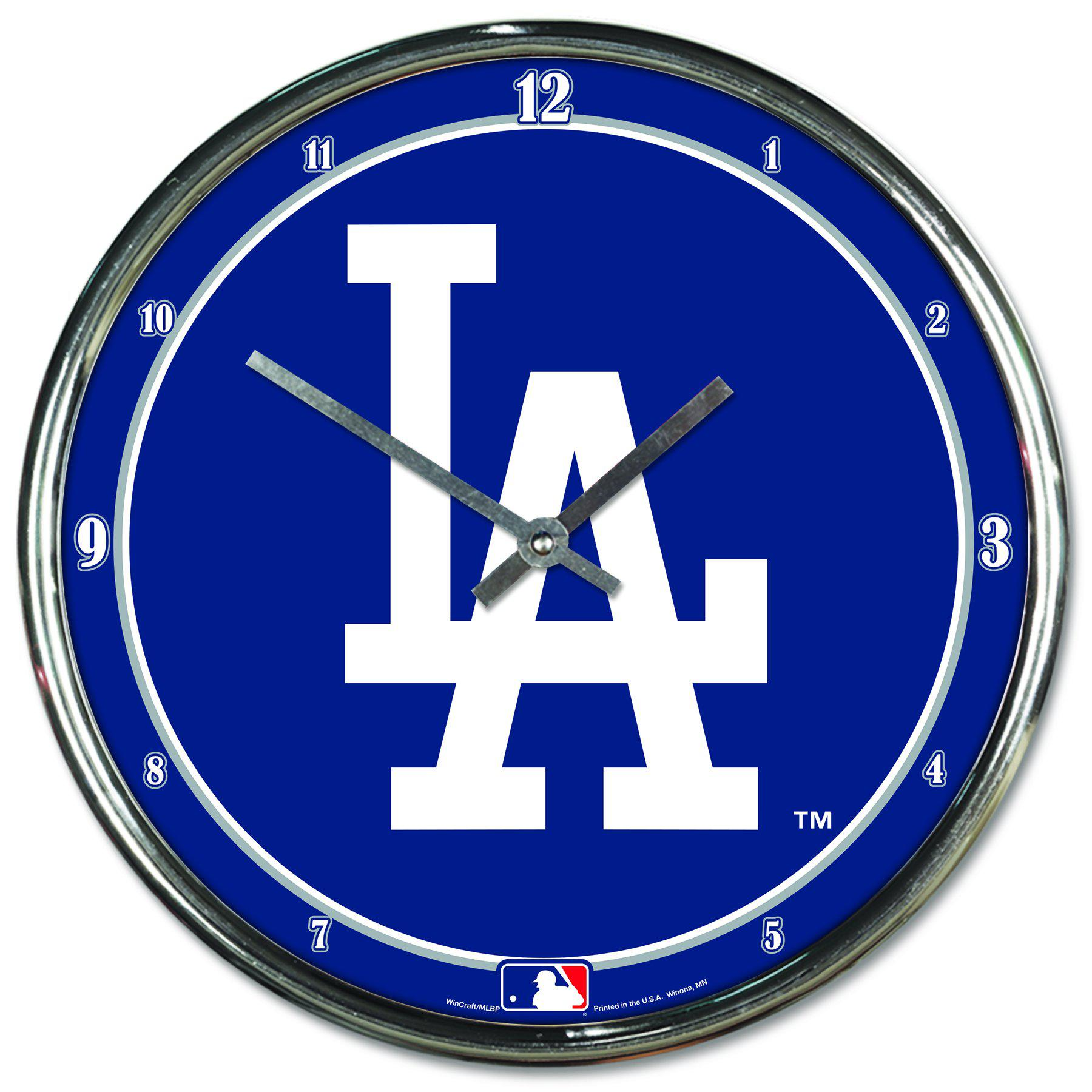 Los Angeles Dodgers Chrome Plated Clock-Clock-Wincraft-Top Notch Gift Shop