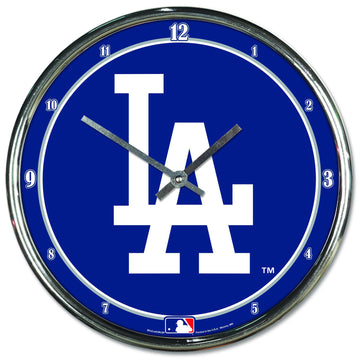 Los Angeles Dodgers Chrome Plated Clock