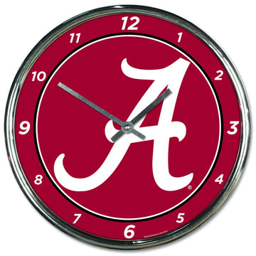 Alabama Crimson Tide Chrome Plated Clock