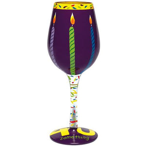 40 Something Wine Glass by Lolita®-Wine Glass-Designs by Lolita® (Enesco)-Top Notch Gift Shop