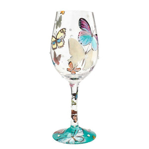 Butterfly Wishes Wine Glass by Lolita®-Wine Glass-Designs by Lolita® (Enesco)-Top Notch Gift Shop