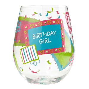 Birthday Girl Stemless Wine Glass by Lolita®-Designs by Lolita® (Enesco)-Top Notch Gift Shop