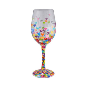 Hearts-A-Million Wine Glass by Lolita®-Wine Glass-Designs by Lolita® (Enesco)-Top Notch Gift Shop