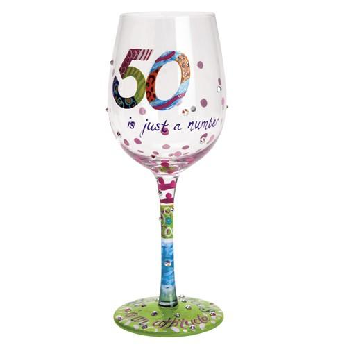 50 is Just a Number Wine Glass by Lolita®-Designs by Lolita® (Enesco)-Top Notch Gift Shop