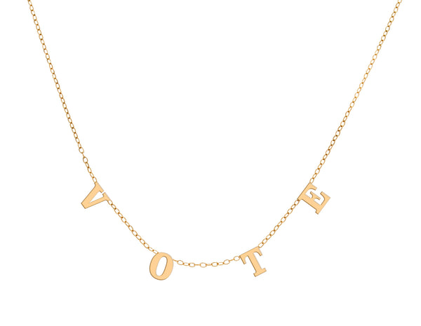 Vote Necklace - Yellow Gold Plated-Necklace-Maya J-Top Notch Gift Shop