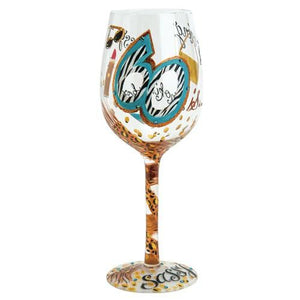 60 is Sassy Wine Glass by Lolita®-Designs by Lolita® (Enesco)-Top Notch Gift Shop