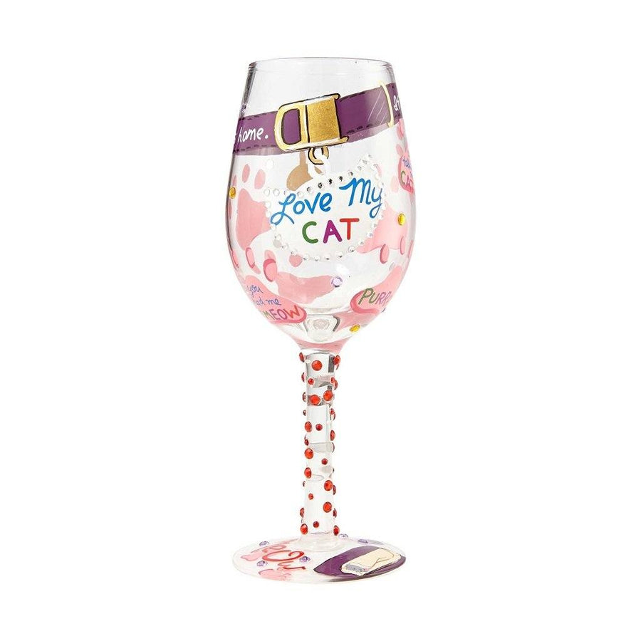 Love My Cat Wine Glass by Lolita®-Wine Glass-Designs by Lolita® (Enesco)-Top Notch Gift Shop
