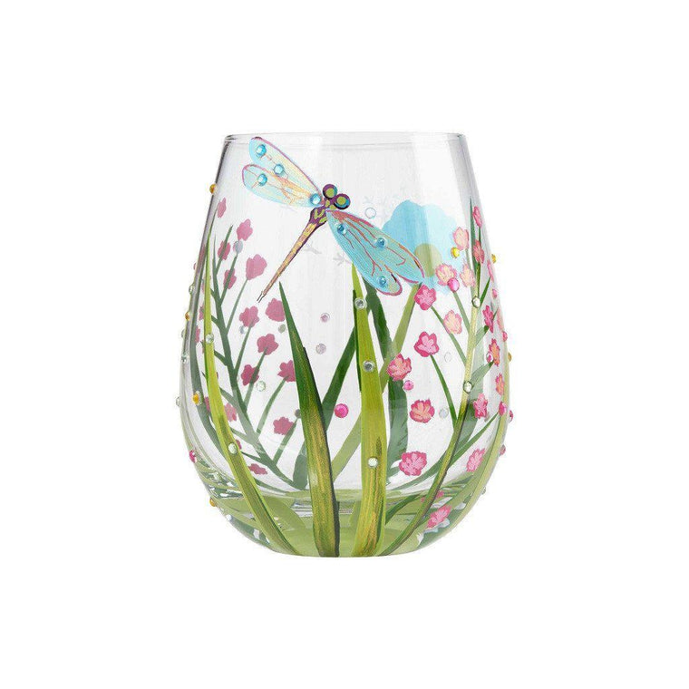 Dragonfly Stemless Wine Glass by Lolita®-Designs by Lolita® (Enesco)-Top Notch Gift Shop