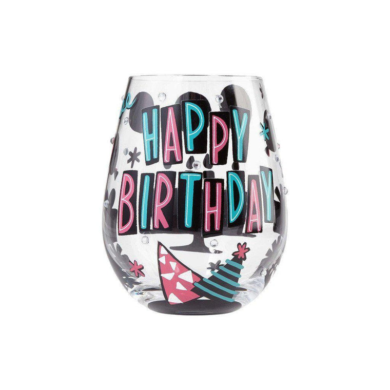 Happy Birthday Stemless Wine Glass by Lolita®-Designs by Lolita® (Enesco)-Top Notch Gift Shop