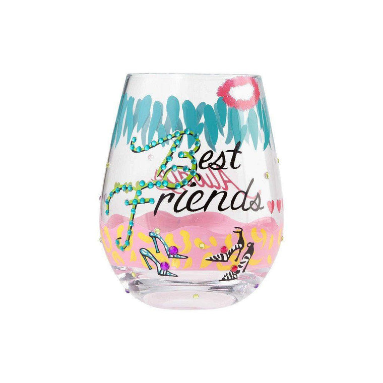 Best Friends Stemless Wine Glass by Lolita®-Designs by Lolita® (Enesco)-Top Notch Gift Shop