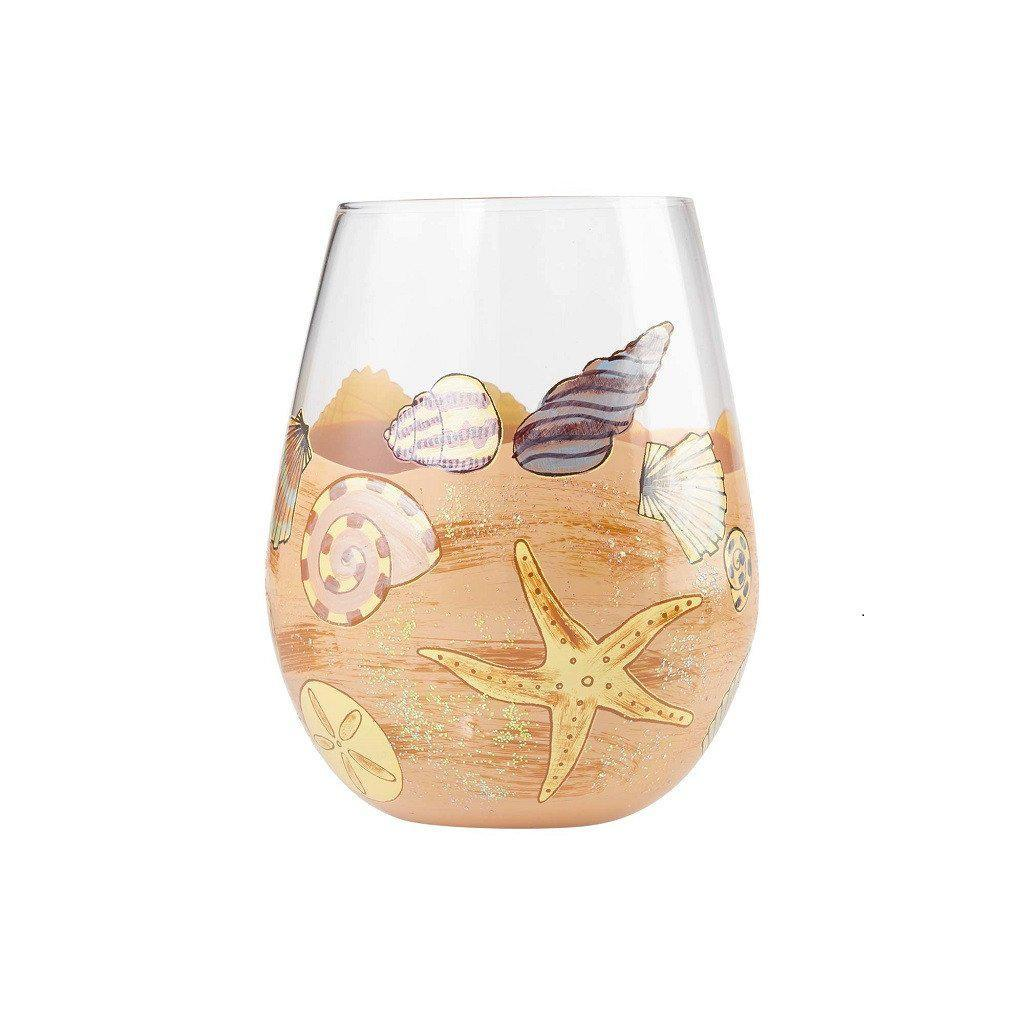 Seaside Stemless Wine Glass by Lolita®-Stemless Wine Glass-Designs by Lolita® (Enesco)-Top Notch Gift Shop