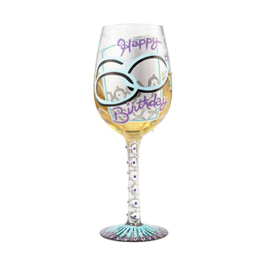 60th Birthday Wine Glass by Lolita®-Wine Glass-Designs by Lolita® (Enesco)-Top Notch Gift Shop