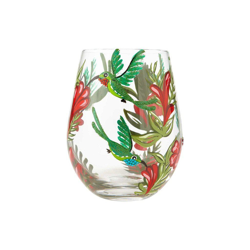 Hummingbird Stemless Wine Glass by Lolita®-Stemless Wine Glass-Designs by Lolita® (Enesco)-Top Notch Gift Shop
