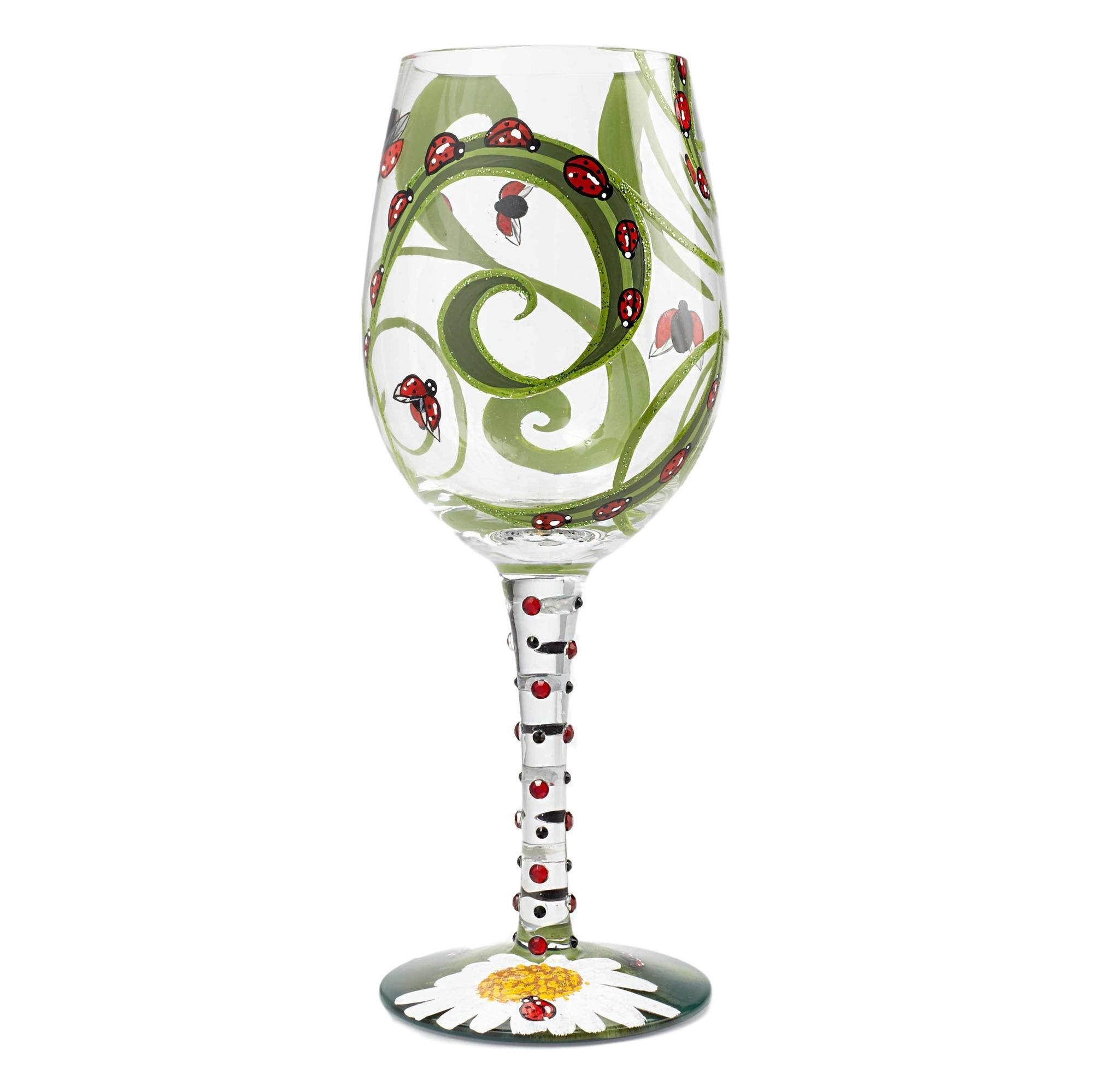 Ladybug Wine Glass by Lolita®-Wine Glass-Designs by Lolita® (Enesco)-Top Notch Gift Shop