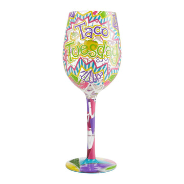 Taco Tuesday Wine Glass by Lolita®