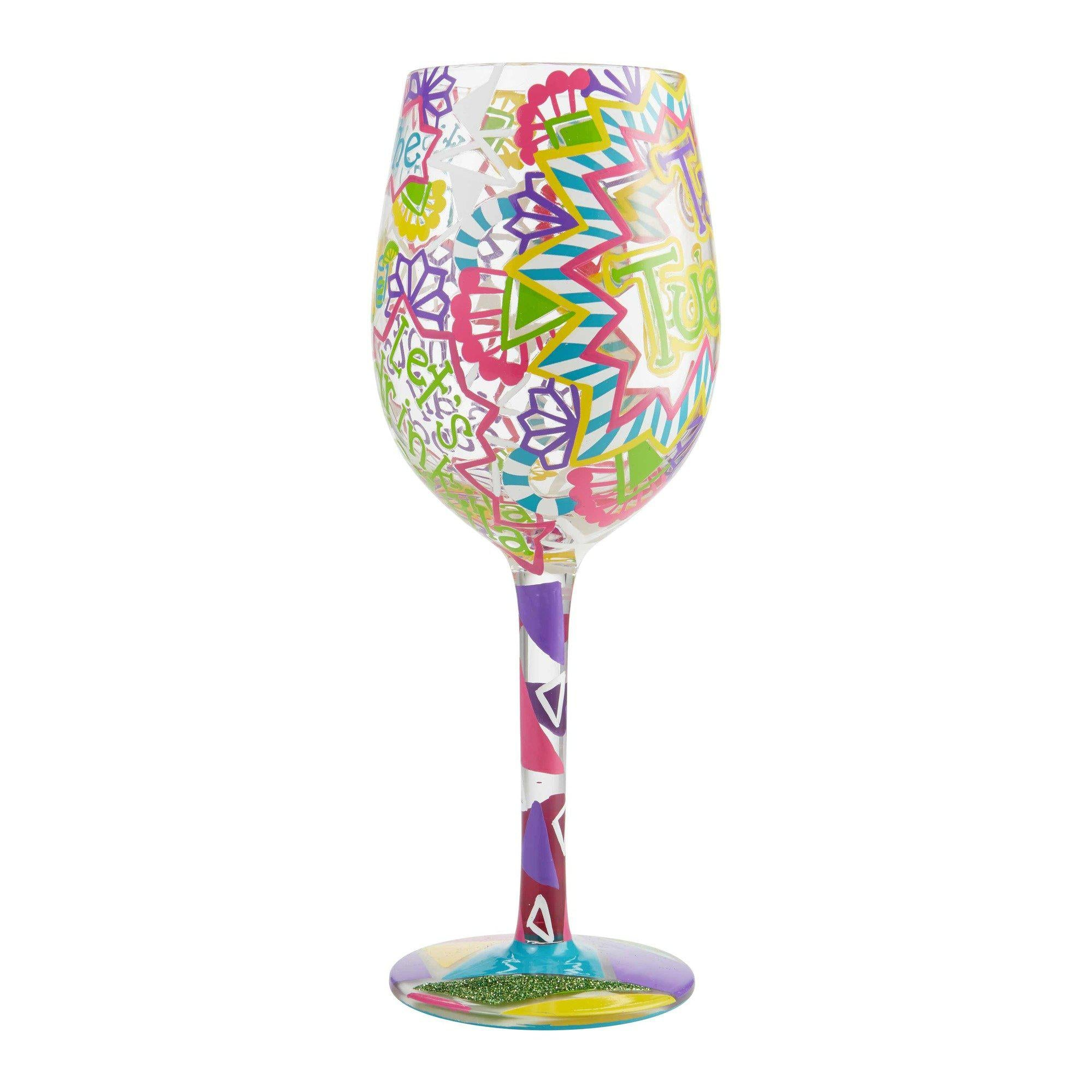 Taco Tuesday Wine Glass by Lolita®-Wine Glass-Designs by Lolita® (Enesco)-Top Notch Gift Shop