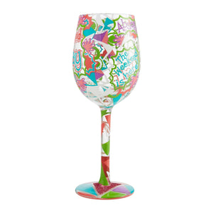 Feel Good Friday Wine Glass by Lolita®-Wine Glass-Designs by Lolita® (Enesco)-Top Notch Gift Shop