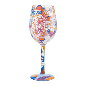 Shoutout Saturday Wine Glass by Lolita®-Wine Glass-Designs by Lolita® (Enesco)-Top Notch Gift Shop
