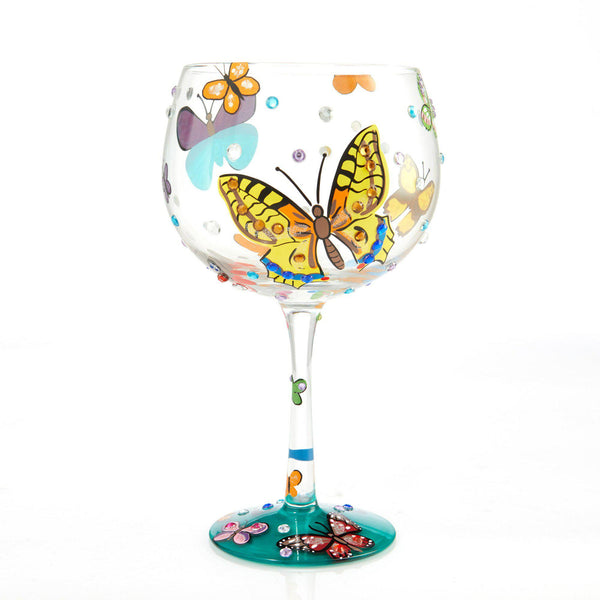 Butterflies Copa Glass by Lolita®-Copa Glass-Designs by Lolita® (Enesco)-Top Notch Gift Shop