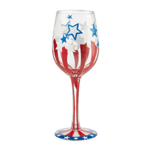 Land Of The Free Wine Glass by Lolita®-Wine Glass-Designs by Lolita® (Enesco)-Top Notch Gift Shop