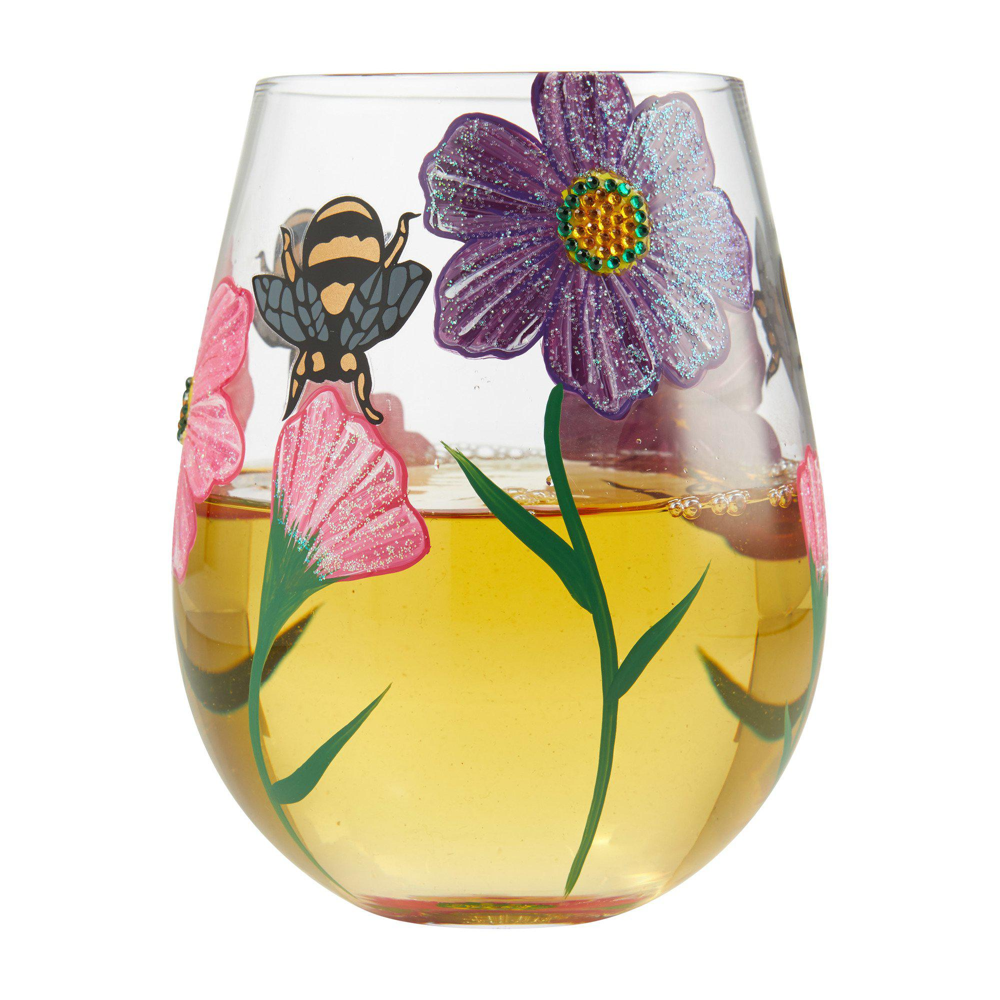 My Drinking Garden Stemless Wine Glass by Lolita®-Stemless Wine Glass-Designs by Lolita® (Enesco)-Top Notch Gift Shop