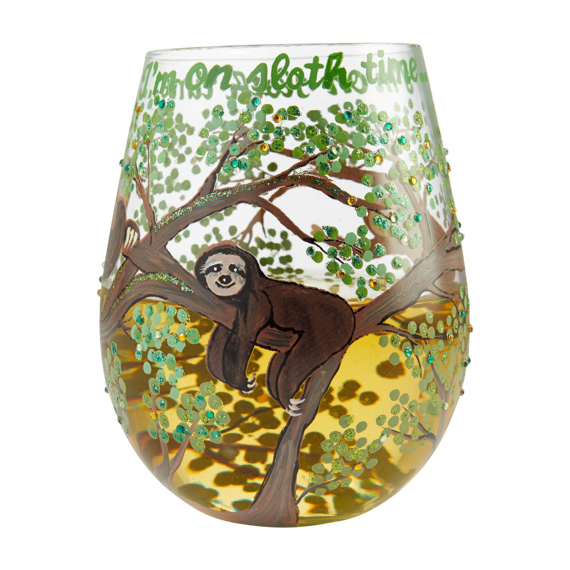 Sloth Time Stemless Wine Glass by Lolita®-Stemless Wine Glass-Designs by Lolita® (Enesco)-Top Notch Gift Shop
