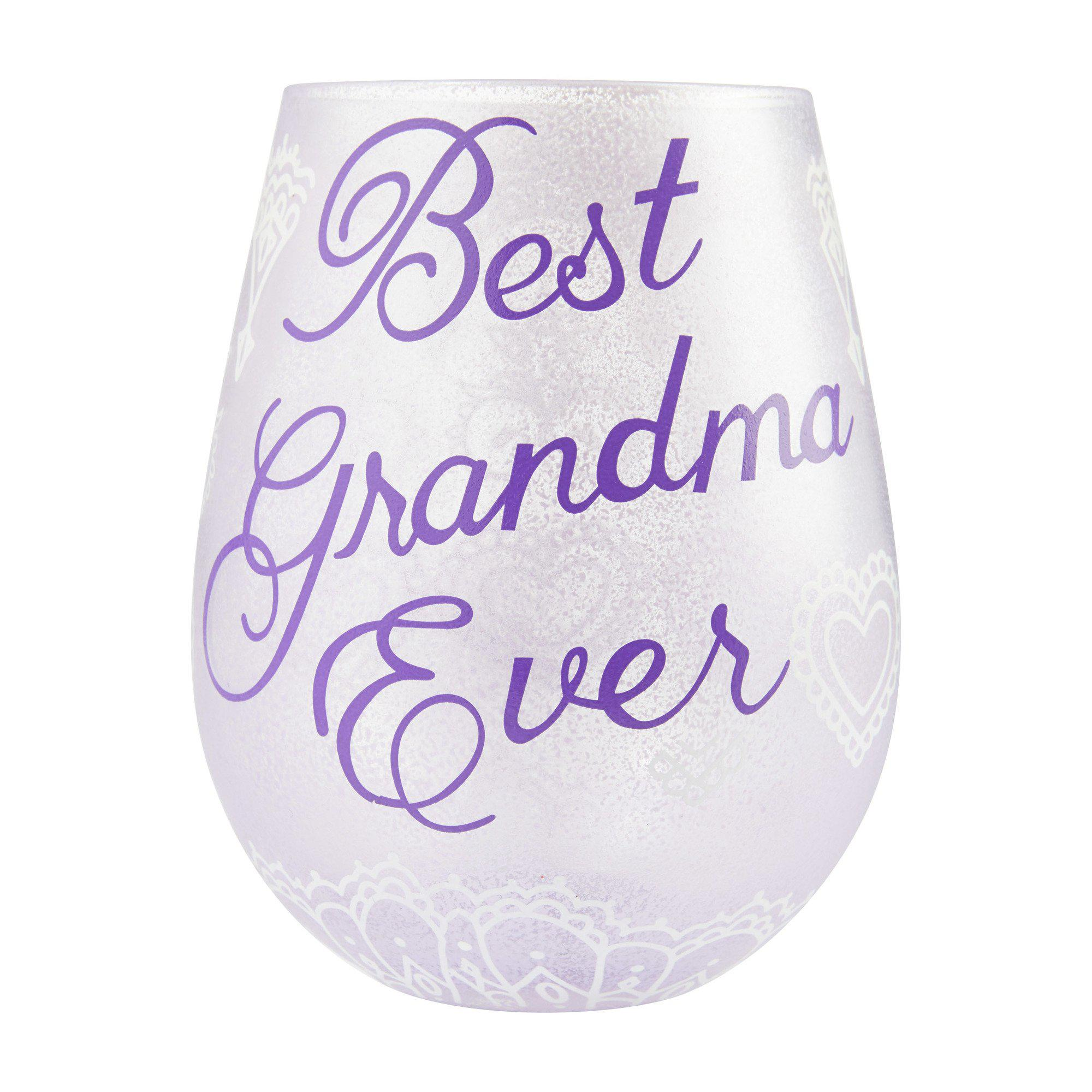 Best Grandma Ever Stemless Wine Glass by Lolita®-Stemless Wine Glass-Designs by Lolita® (Enesco)-Top Notch Gift Shop
