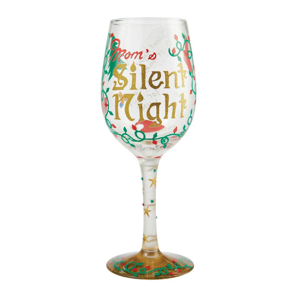 Mom's Silent Night Wine Glass by Lolita®-Wine Glass-Designs by Lolita® (Enesco)-Top Notch Gift Shop