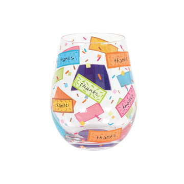 Many Thanks Stemless Wine Glass by Lolita®