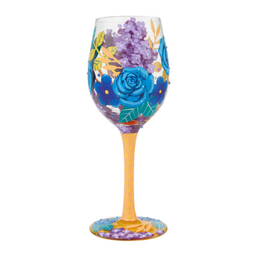 Blue Florals Wine Glass by Lolita®