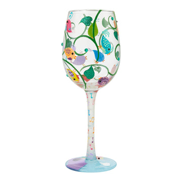 Songbirds Wine Glass by Lolita®