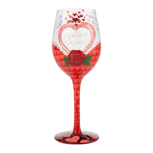 Special Place Wine Glass by Lolita®-Wine Glass-Designs by Lolita® (Enesco)-Top Notch Gift Shop
