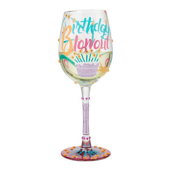 Birthday Blowout Wine Glass by Lolita®-Wine Glass-Designs by Lolita® (Enesco)-Top Notch Gift Shop