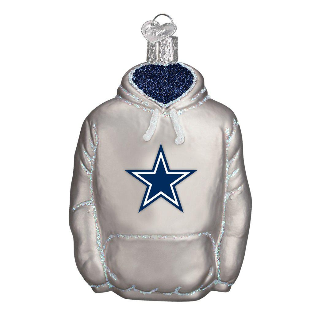 Dallas Cowboys Glass Hoodie Christmas Ornament-Ornament-Old World Christmas-Top Notch Gift Shop