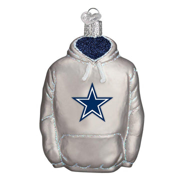 Dallas Cowboys Glass Hoodie Christmas Ornament